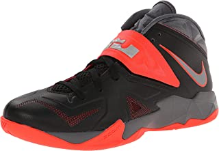 Mens Zoom Soldier VII Lebron James Basketball Shoes Black/Grey/Bright Crimson Size 12