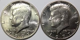 1977 P & D Kennedy Half Dollar Set Brilliant Uncirculated