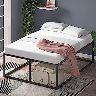 Cadre de lit plateforme en métal 46 cm Joseph ZINUS   Sommier   Support à lattes en bois   Rangement sous le lit   140 x 1...