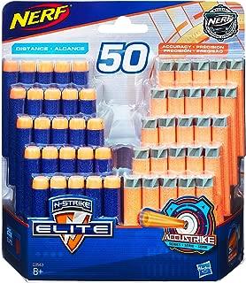 Nerf Elite - 50 Pack of Genuine Darts - 25 Elite & 25 AccuStrike Darts - Compatible with Fortnite Scar AR-L, Supressed Pistol SP-L, Rhinofire & Infinus