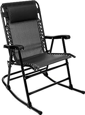 AmazonBasics Foldable Rocking Chair, Black