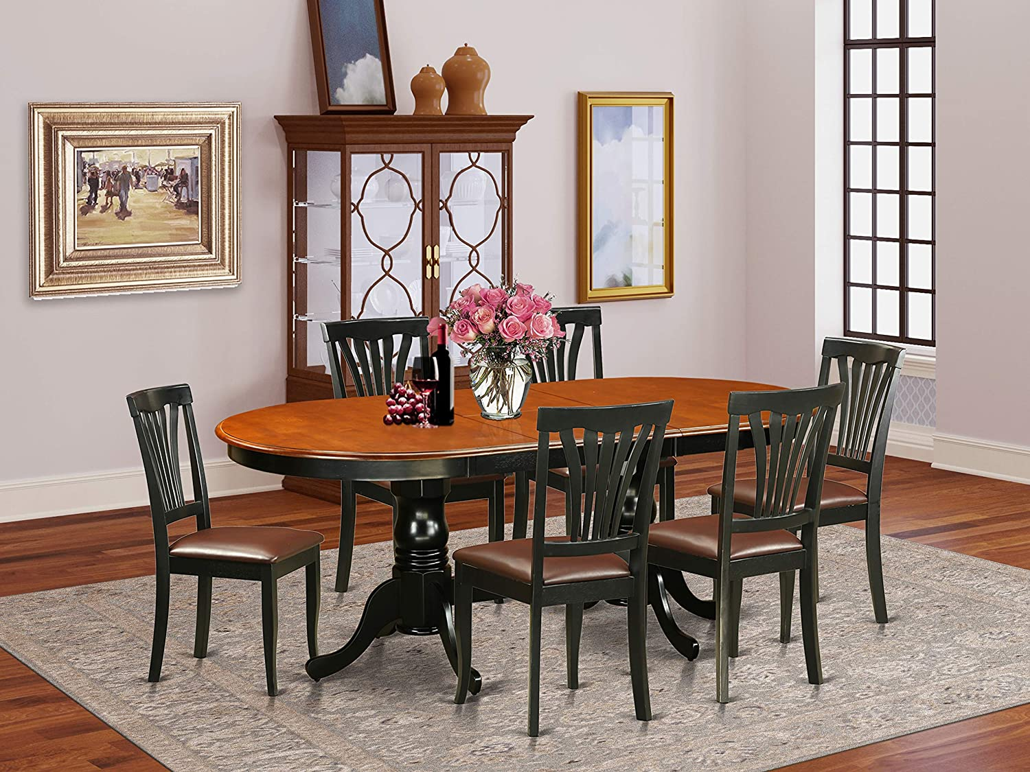 9 Pc Dining room set Dining Table with 9 Wooden Dining Chairs