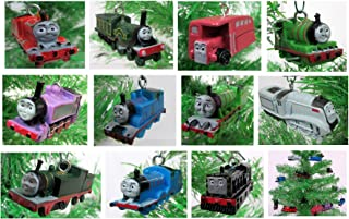 Thomas the Train 12 Piece Holiday Christmas Tree Ornament Set Featuring Thomas, Hiro, James, Percy, Belle, Spencer and Other Engine Friends Ranging from 2