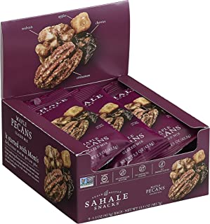 Sahale Snacks Maple Pecans Glazed Mix - Nut Snacks in a Grab 'n Go Pouch, No Artificial Flavors, Preservatives or Colors, Gluten-Free Snacks, 1.5 Ounce (Pack of 9)