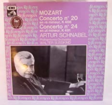 RARE SPECIALLY IMPORTED BRITISH PRESSING! Artur Schnabel Plays Mozart Piano Concertos: No. 20 in D minor, No. 24 in C minor, No. 27 in B flat, Concerto for Two Pianos in E flat with Karl Schnabel (Recorded 1934-1948)