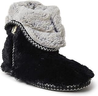Dearfoams Beth Furry Foldover Boot Slipper – Beth Stivale pieghevole con Memory Foam