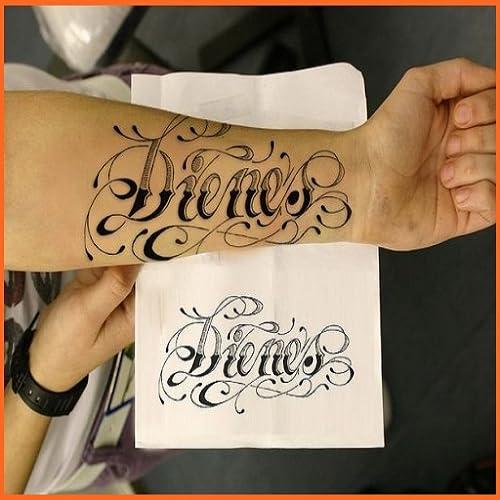 Lettering Name Tattoo Art Design