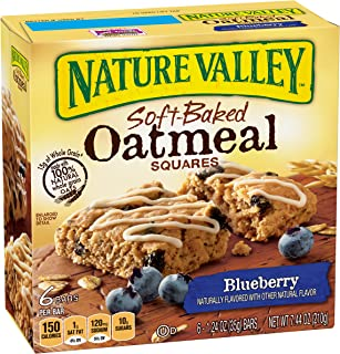 Nature Valley Soft-Baked Oatmeal Squares, Blueberry, 6 Count