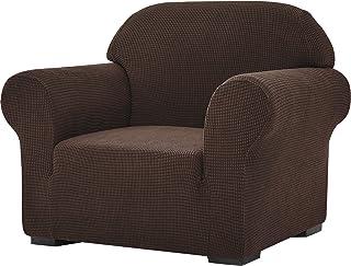 SU SUBRTEX Housse de canapé Extensible 1 pièce pour Fauteuil de Salon Doux Lavable Housse de canapé pour Enfants/Chiens (C...