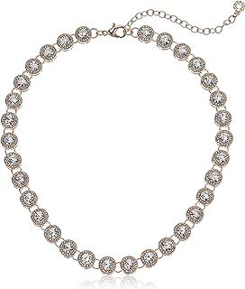 Anne Klein Women's Pave Collar Necklace Adjustable