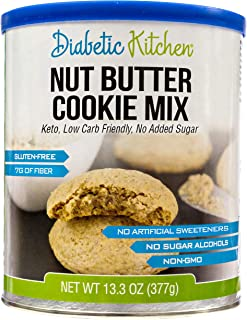 Diabetic Kitchen Nut Butter Cookie Mix is Low Carb, Keto-Friendly, Gluten-Free, 7g of Fiber, No Added Sugar, No Artificial...