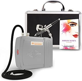 The Complete Airbrush Makeup, Cosmetic and Tattoo Professional Spray Gun Mini Compressor Kit for Multi Purpose Air Brushing: Make up, Body Paint, Temporary Tattoos, Nail Art Paints Machine and more
