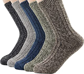 Century Star Women's Vintage Winter Soft Wool Style Thick Wool Warm Winter Crew Socks