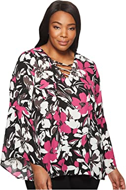 B Collection by Bobeau - Plus Size Dawn Flare Sleeve Blouse