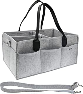 HOMEVAGE Diaper Caddy Caddies Organizer, Baby Cloth Diapering, Tote Bag, Nursery Storage Bin for Changing Table, Portable ...