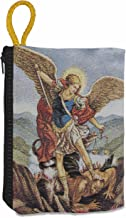Good Shepherd Creations Large Tapestry Rosary Pouch with Traditional Catholic Art (Saint Michael)