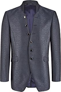 Wilvorst Men's Plain Long Sleeve Blazer -  - 48R
