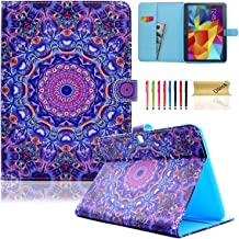 Galaxy Tab 4 10.1 Case,T530 Case,Dteck(TM) Slim Folio Stand Cover Case with Auto Wake/Sleep Feature Magnetic Smart Shell Case for Samsung Galaxy Tab 4 10.1 SM-T530NU T530 T531 T535,Purple Circle