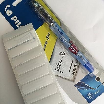Tissu stylos-Pack de 2-Inclut Nom étiquettes