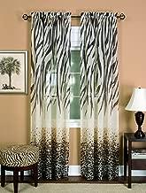 Achim Home Furnishings, Brown Kenya Curtain Panel, 50 63-Inch, 50