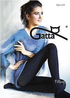 Gatta Tiffany 23 40den blickdichte Strumpfhose mit Strickmuster Streifen