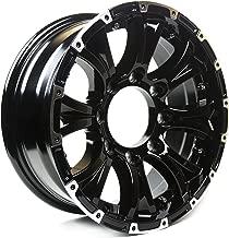 Viking Series Machined Lip Gloss Black Aluminum Trailer Wheel with Chrome Cap - 15