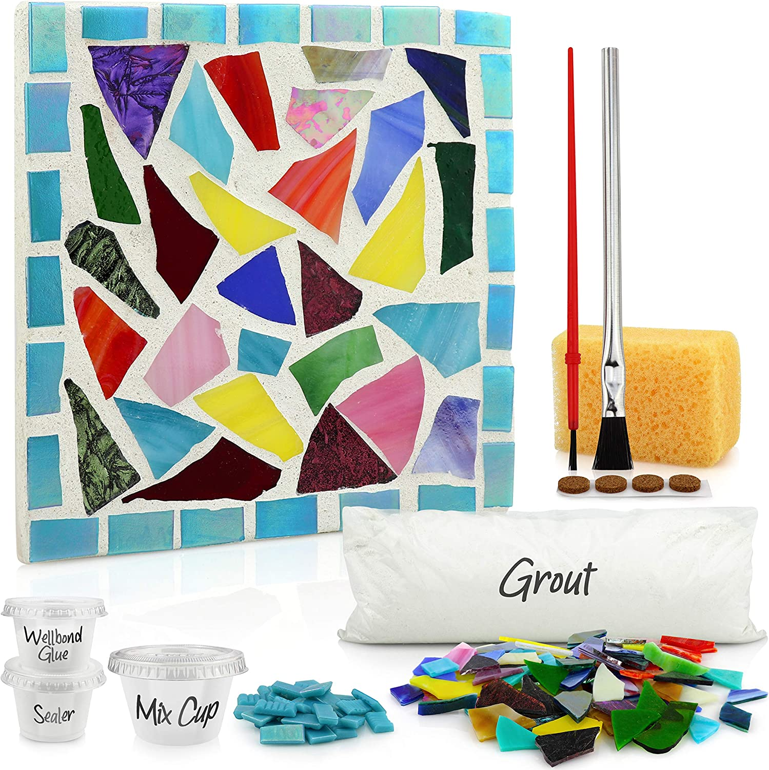 Mosaic Kits for Adults Stained Glass Trivet DIY Crafts for Adults DIY Kits  for Adults Mosaic Kit Art Kit