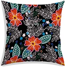 RADANYA Polyester Floral Designer Decorative Throw Pillow/Cushion Covers - 18 x 18 inches-Insert not Included
