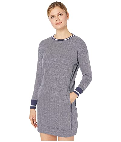 Vineyard Vines Varsity Sweatshirt Dress (Deep Bay Heather) Women