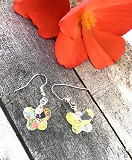 Butterflies - Swarovski earrings Silver-gift -summer jewelry-sparkle