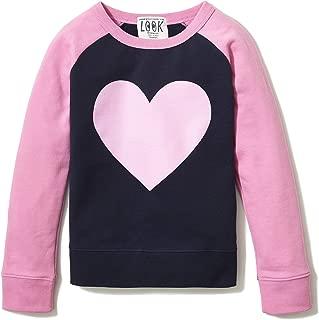 Amazon/ J. Crew Brand- LOOK by crewcuts Girl's Crewneck Raglan Sweatshirt