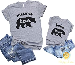 Happy Lion Clothing - Baby Bear Shirt or Bodysuit, or Mommy and Me Matching Shirts Mama Bear Baby Bear for Mom and Daughter or Son