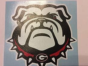 Craftique Georgia Bulldog Extra Large Die Cut Vinyl Decal, New Bulldog Head, Cornhole