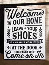 234Tiffany Leave Your Shoes and Worries at The Door Sign No Shoes Welcome Sign