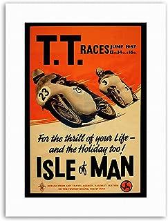 Wee Blue Coo TT Races Bikes ISLE of Man TT Races 1967 Sport Canvas Art Prints
