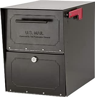 Architectural Mailboxes 6200Z-10 Oasis Classic Locking Post Mount Mailbox, Graphite Bronze (Renewed)