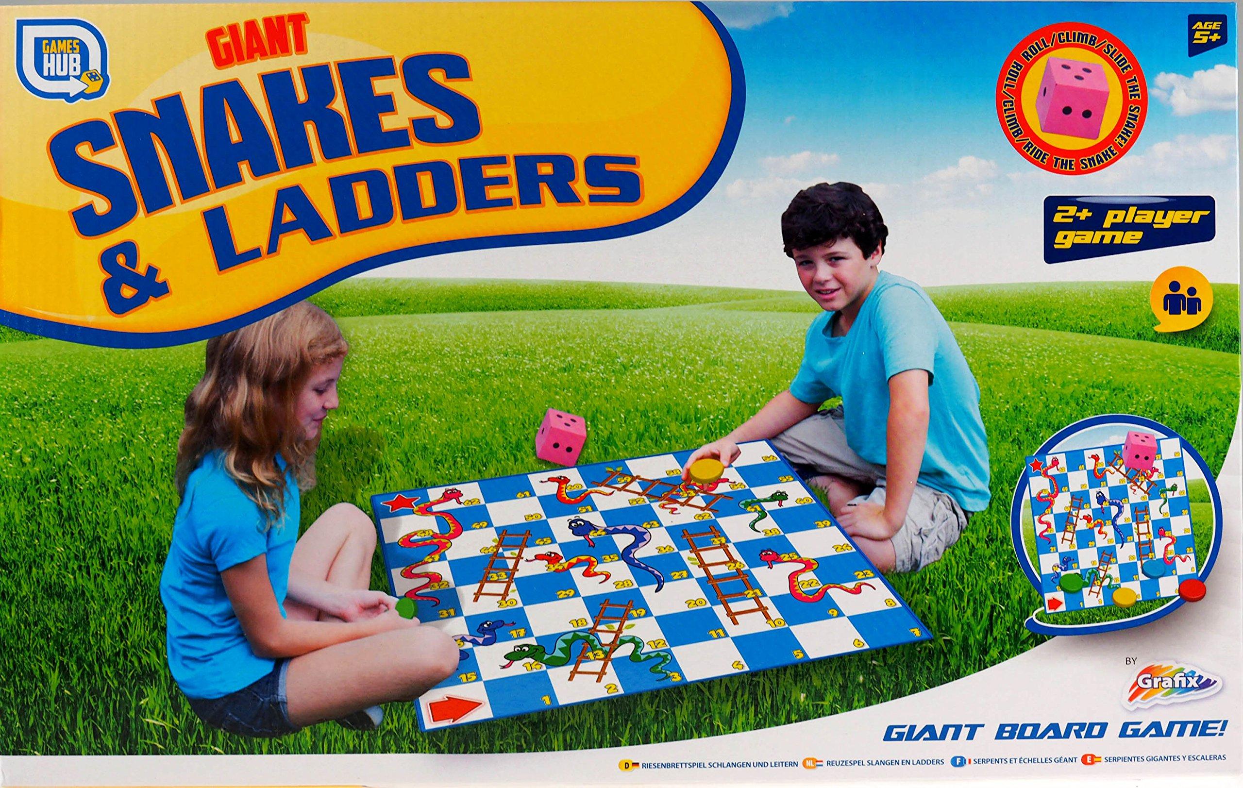 Juego de mesa infantil gigante Snakes and Ladders para jugar al aire libre: Amazon.es: Hogar