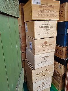 /étag/ères etc. Id/éal pour Le bu de Table Spetebo Caisse en Bois d/écorative Originale 51 x 41 x 32 cm Caisse /à vin