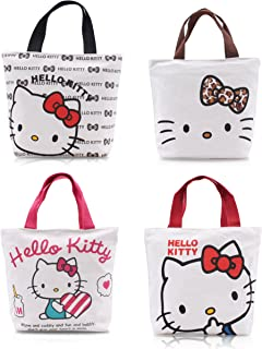 5445c7459 Finex - Set of 2 - Hello Kitty Canvas Zippered Tote with Top Carry Handles -
