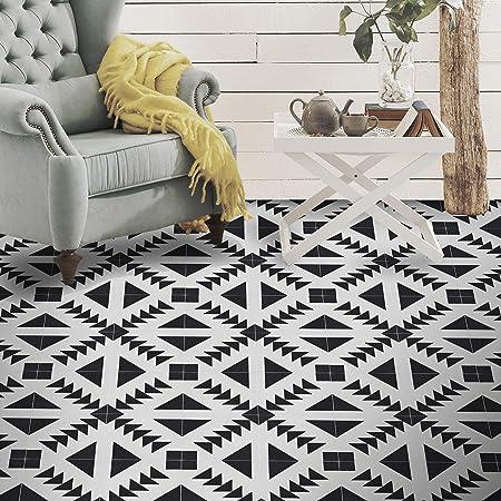 Moroccan Mosaic Tile House Ctp60 02 Tadla Handmade Cement Tile 8 X8 Gray White Amazon Com