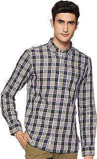 Amazon Brand - House & Shields Men's Checkered Regular fit Casual Shirt (SS20-HS-RR-HS-D_