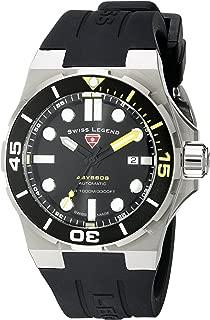 Men's 10062A-01-YA-SM-RDB Abyssos Analog Display Swiss Quartz Black Watch