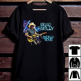 Brad Paisley T Shirt Brad Paisley Tour 2019 T Shirt Brad Paisley World Tour 2019 T-Shirt Long T-Shirt Sweatshirt Hoodie