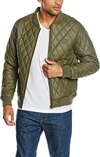 Urban Classics Men's Diamond Quilt Leather Imitation Jacket