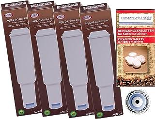 Lot de 4 cartouches filtrantes compatibles avec Jura White Impressa + 10 tablettes de nettoyage