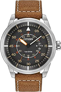 Citizen Men AW1361-10H Year-Round Analog Solar Powered Brown Watch