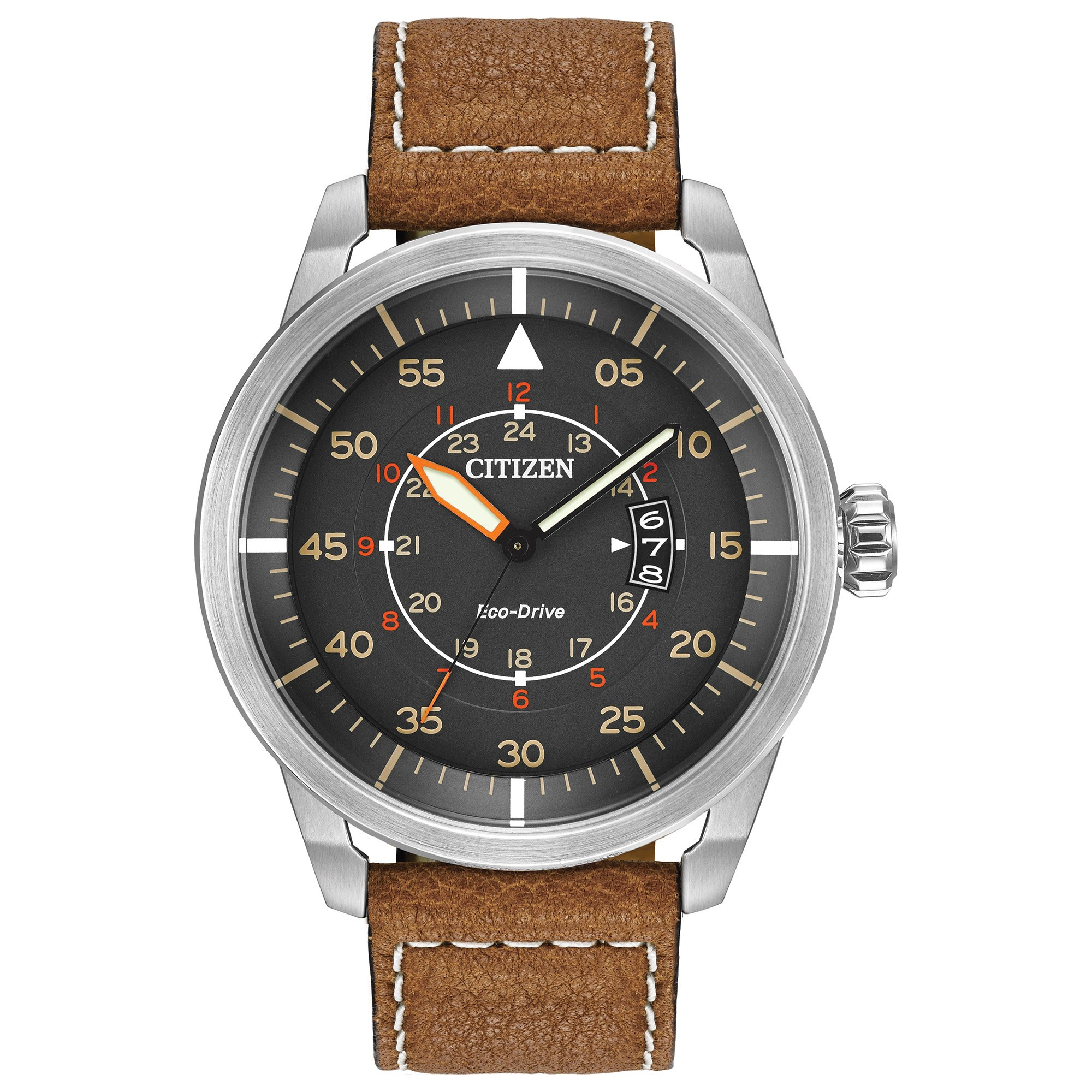 Citizen Eco Drive Brown Leather AW1361 10H