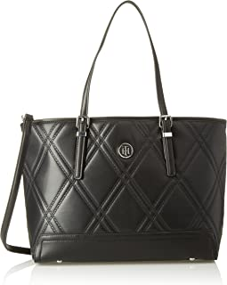 Honey Med Tote Quilted, Bolso totes para Mujer, Negro (Black), 14x27x40 cm (W x H x L)