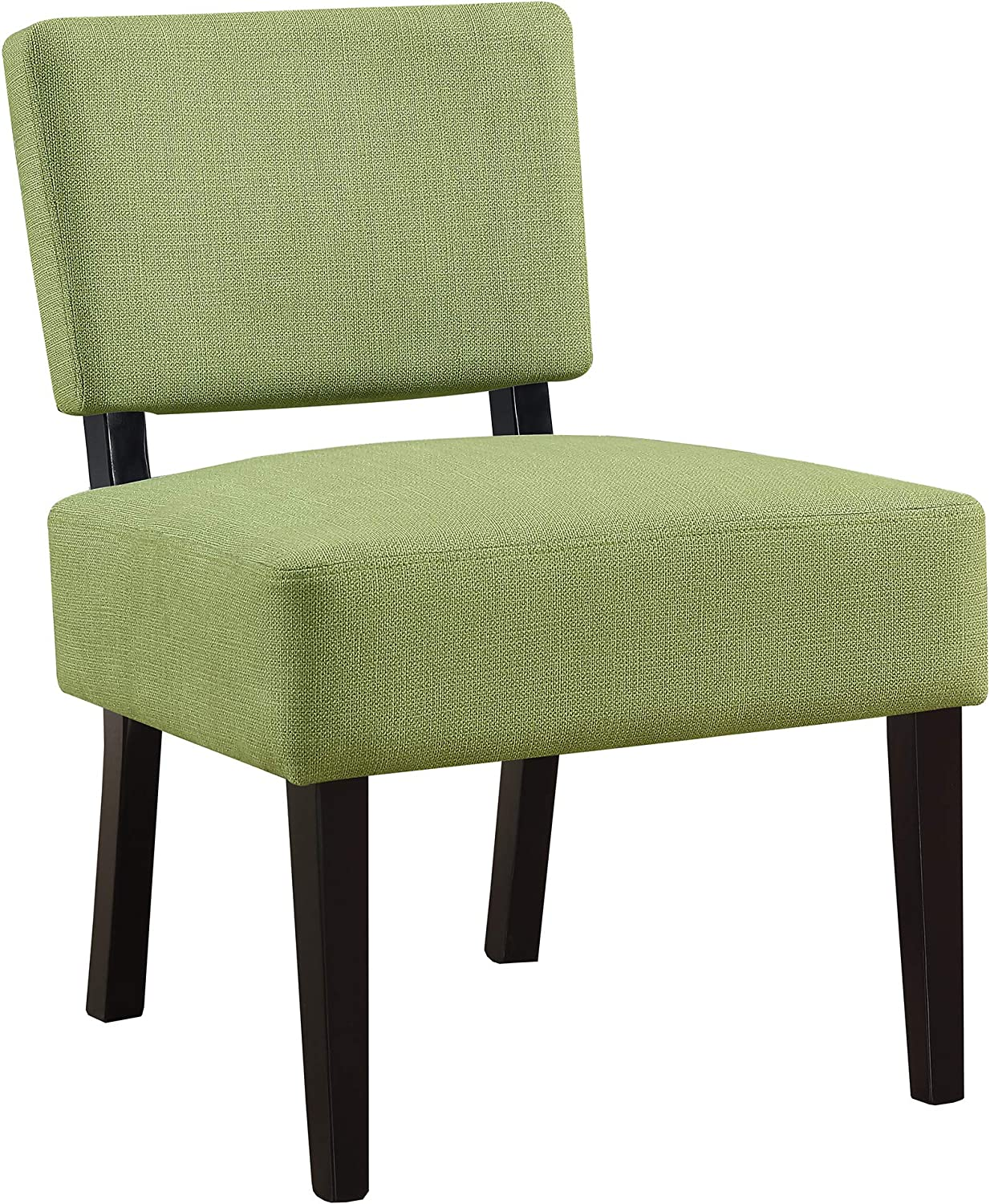 Monarch Specialties Accent Chair - Lime Green Fabric, 22.75  L X 27.5  W X 31.5  H