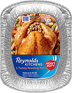 Reynolds Bakeware Disposable Turkey Size Roaster Pan - 16x13 Inch, 3 Count